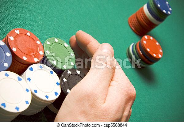 Gambling chips - csp5568844