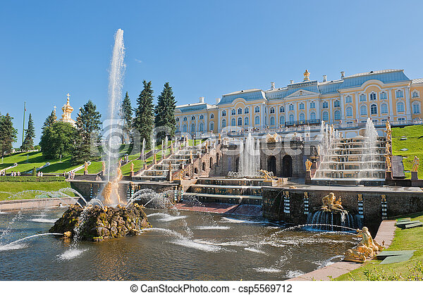 Fountains of Petergof, Saint Petersburg, Russia - csp5569712