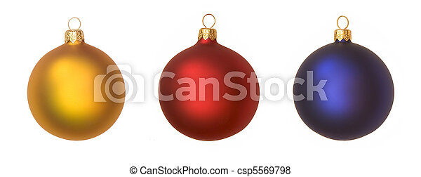 isolated christmas baubles - csp5569798