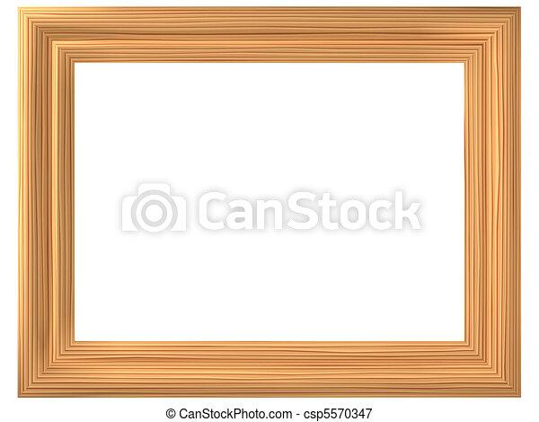 Illustrations de cadre bois imitation les tridimensionnel dessin anim csp5570347 - Cadre photo dessin ...
