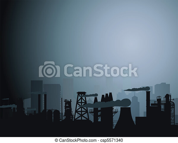 Industrial city - csp5571340