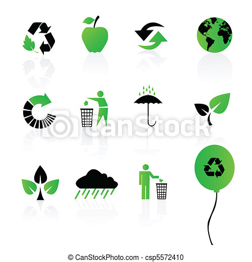 environmental / recycling icons - csp5572410