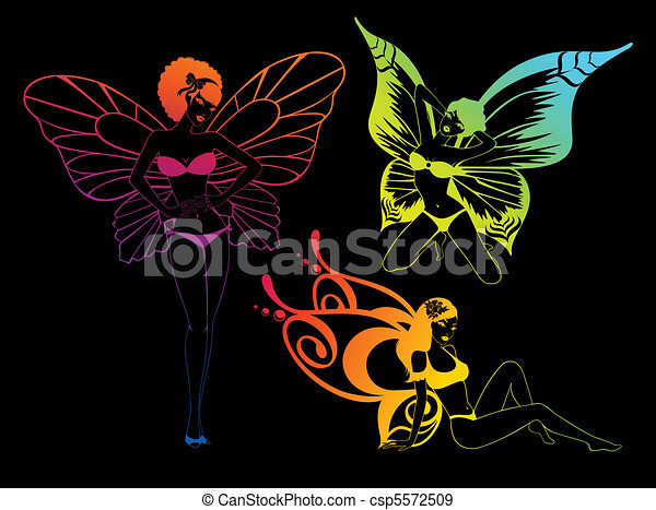 Girl With Butterfly Wings Drawing Pretty Girl With Butterfly