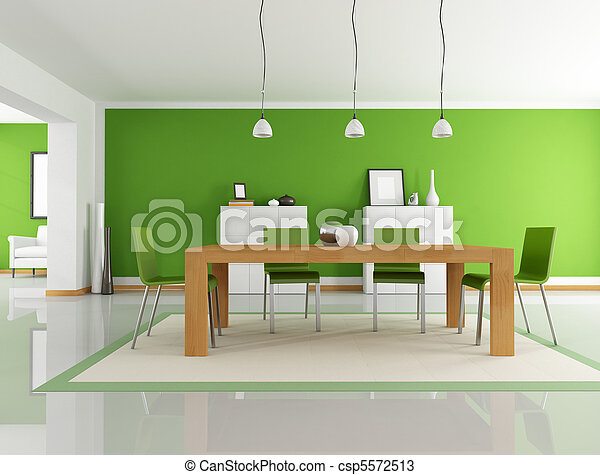green dining room - csp5572513