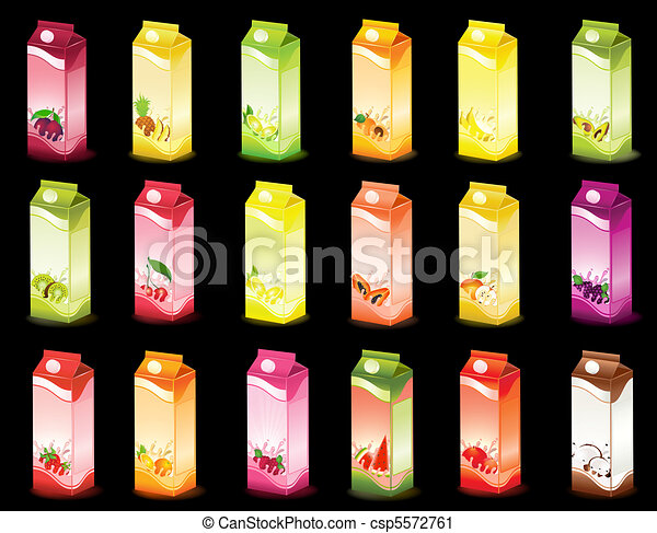 milky products with fruit - csp5572761