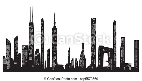 skyscraper background - csp5573560