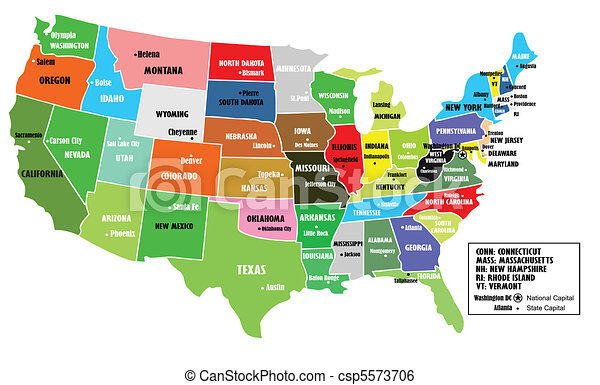 Usa map Vector Clip Art Royalty Free. 20,657 Usa map clipart ...