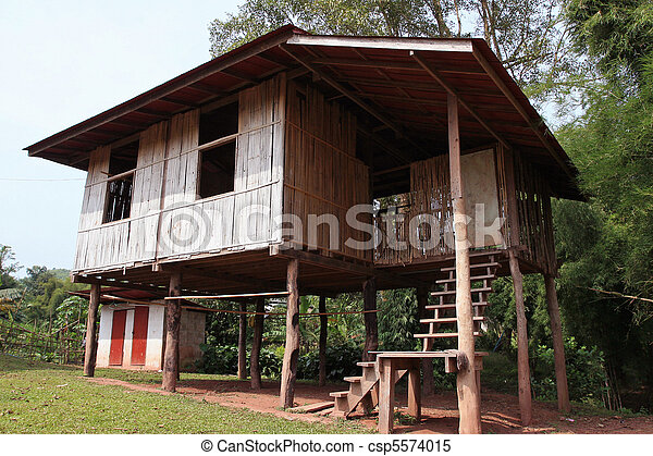 Bamboo Houses, Thailand - csp5574015