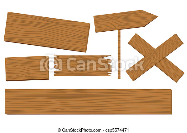 wooden background vector - csp5574471
