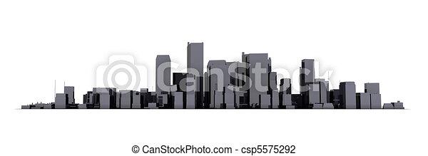 Shiny Black City White