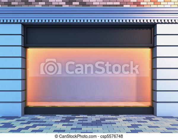 Classical empty storefront . - csp5576748