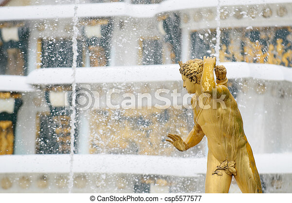 Fountains of Petergof, Saint Petersburg, Russia - csp5577577