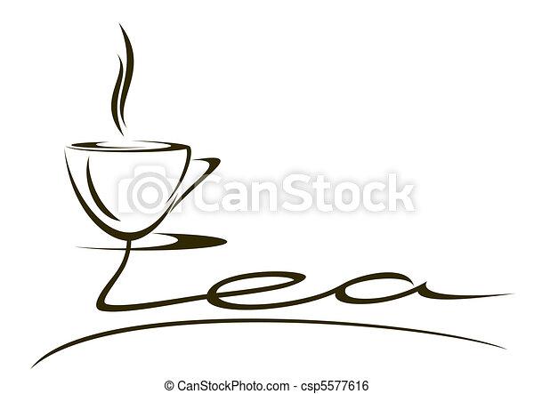 Cup of tea. - csp5577616