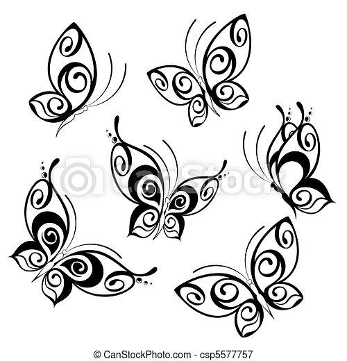 Dessins de papillons - Dessins papillons ...
