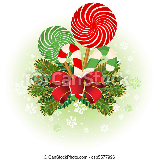 Christmas candy cane decorated. - csp5577996