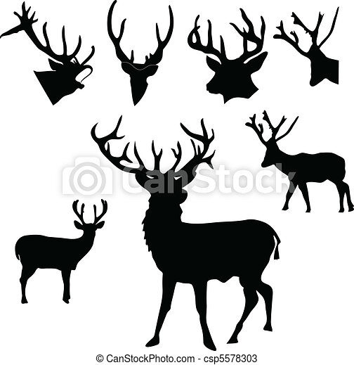 Cerf Silhouette 5578303 on whitetail deer silhouette clip art