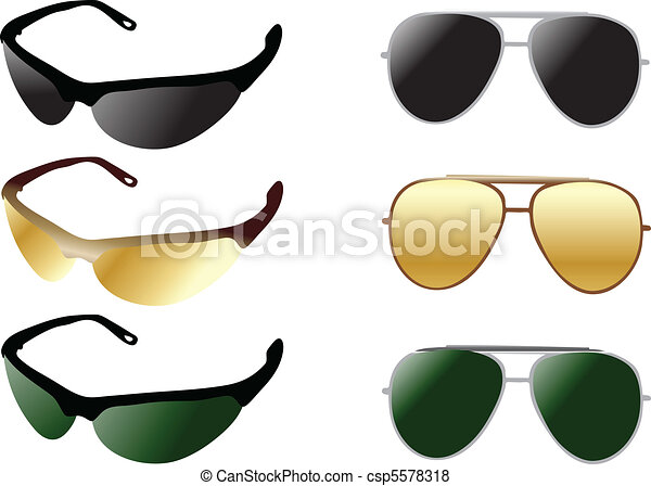 modern and retro sunglases - csp5578318