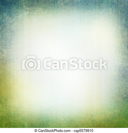 Grunge background in green and blue  - csp5579910