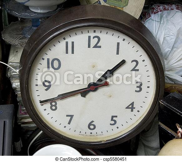 old clock at flea market - csp5580451