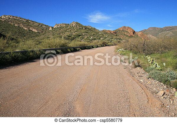 Arizona dirt road - csp5580779