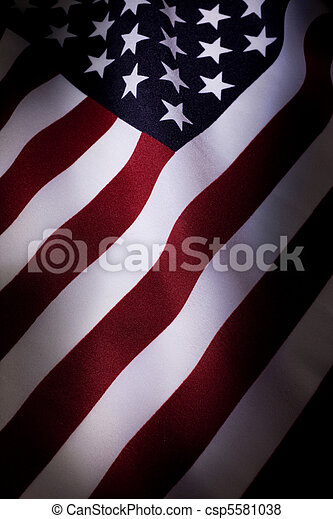 amerikanische, Fahne - csp5581038