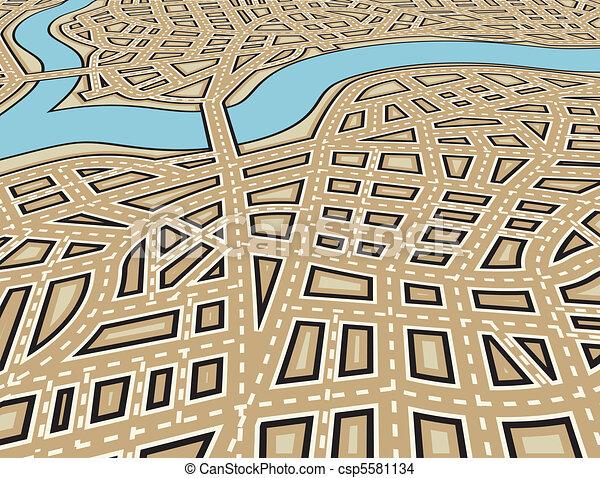 Angled city - csp5581134