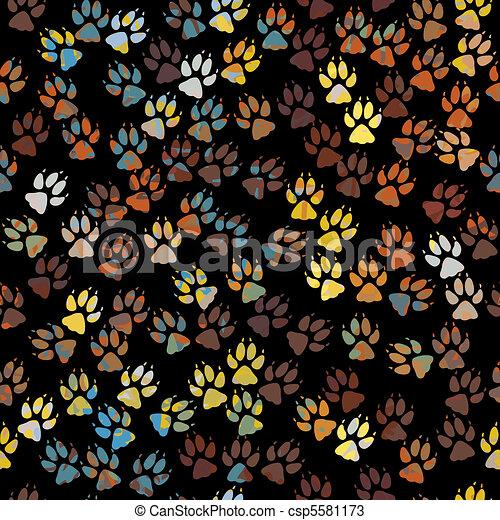Paint paws tile - csp5581173