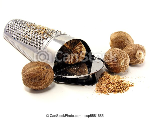 Nutmeg & grater - csp5581685