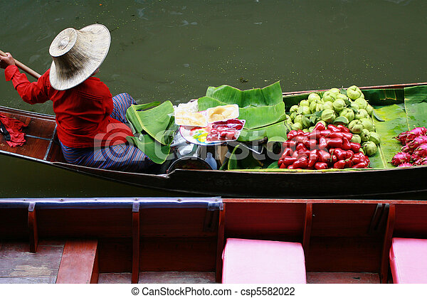 Floating Market in Thailand - csp5582022