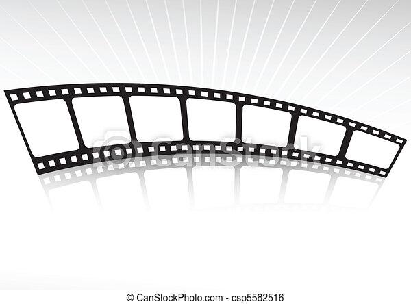 Film strip reflected - csp5582516