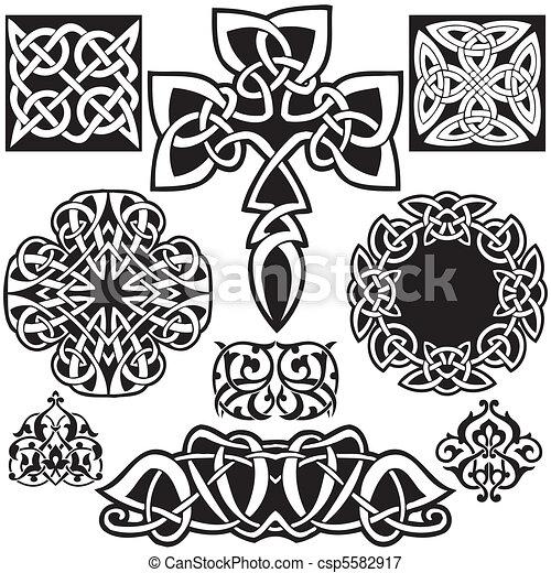 Celtic vector art-collection. - csp5582917
