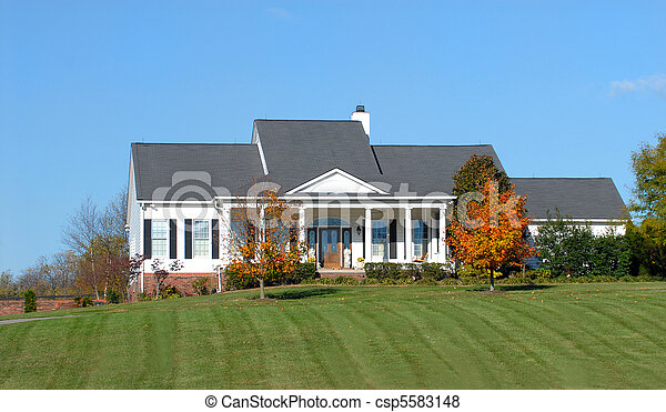 Beautiful home in a rural country setting - csp5583148