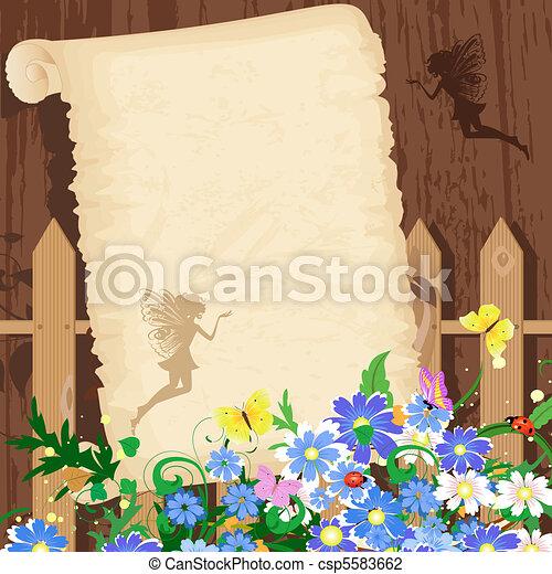 Greeting rustic paper - csp5583662