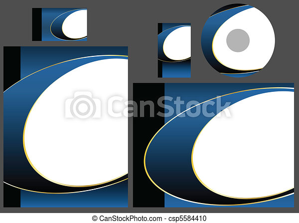 Vector - Template for business card, letter and cd. Add your logo and text - csp5584410