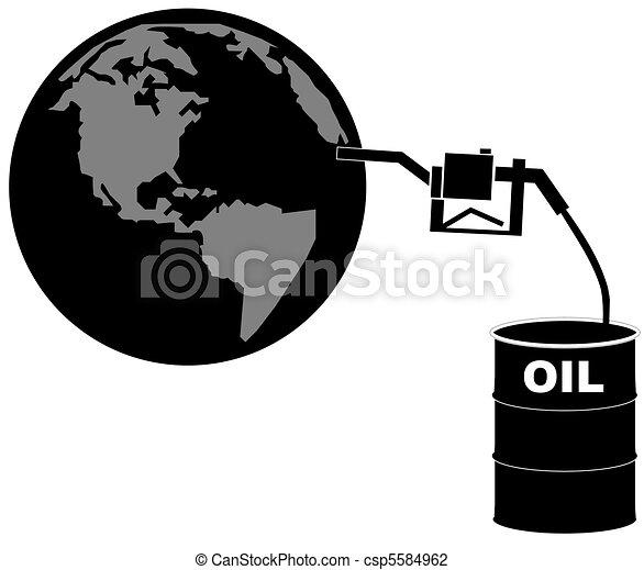 Oil Barrel Drawing Barrel of Oil Pumping Fuel