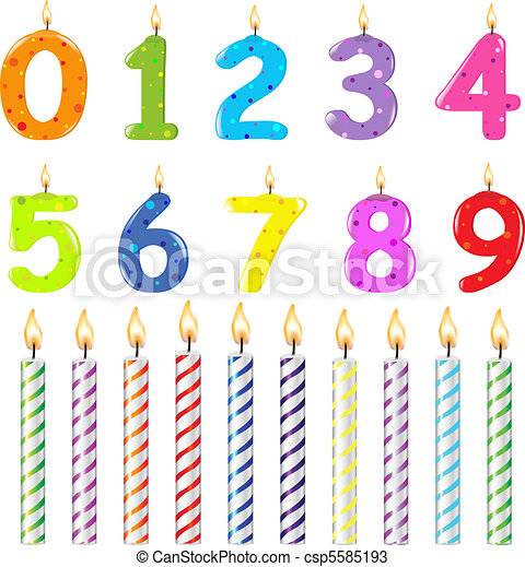 Birthday Candles Of Different Form - csp5585193
