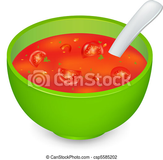 Vector - Tomato Soup - stock illustration, royalty free illustrations ...