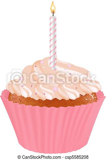Birthday Cupcake - csp5585208