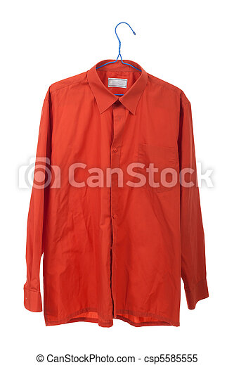 Creased the orange shirt - csp5585555