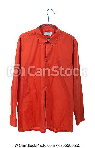 Creased the orange shirt - csp5585555