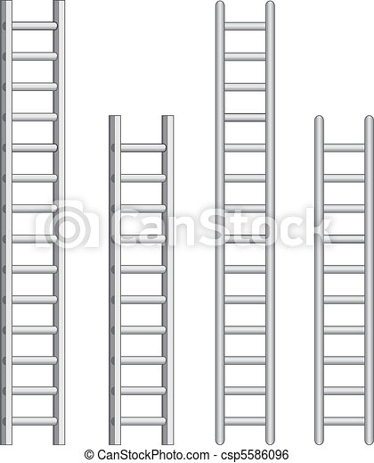 Clip Art Vector of Ladders - Illustration of ladders. One color ...