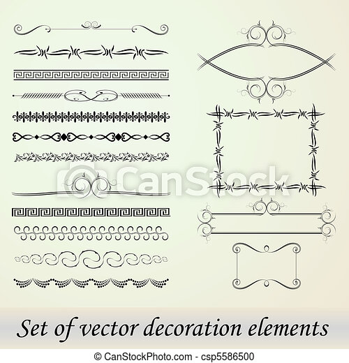 Set of decoration elements - csp5586500