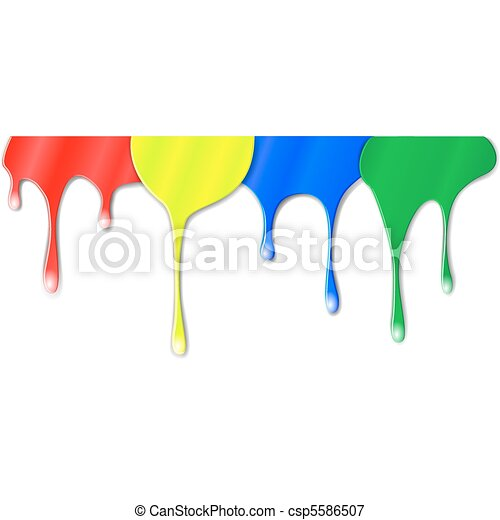 Drips of color paint - csp5586507