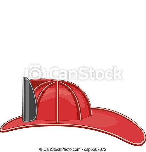 Vintage Firefighter Helmet - csp5587372