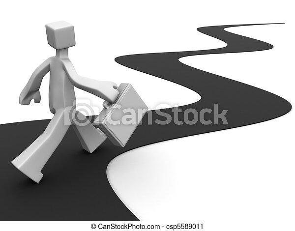 Journey of success - csp5589011