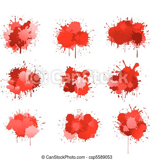 Red ink or blood blobs - csp5589053