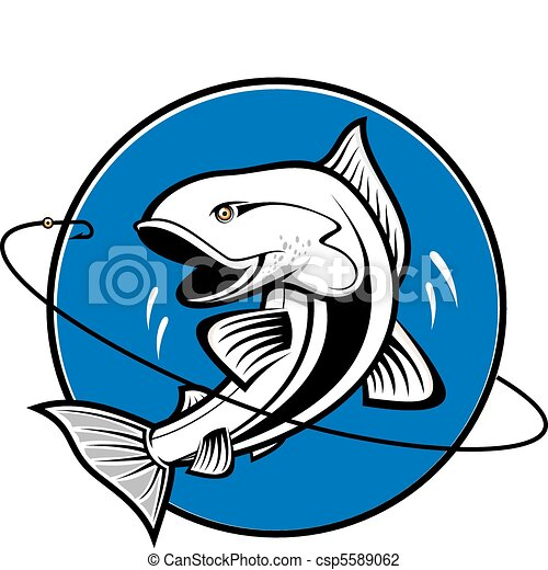 Fishing symbol - csp5589062