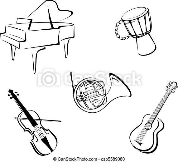 Music instruments - csp5589080