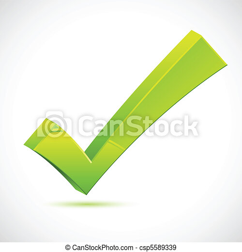 Green Checkmark - csp5589339
