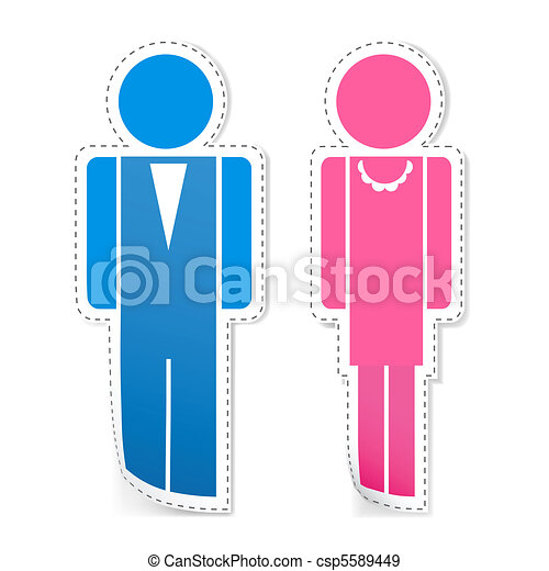 Male and Female Stickers - csp5589449